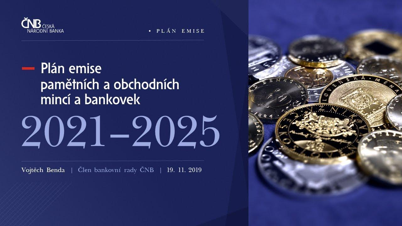 ČNB - Plán emise mincí a bankovek v letech 2021–2025